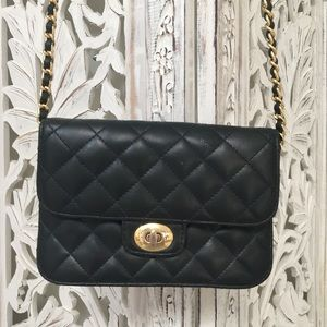 Antique Navy Blue quilted Chain purse